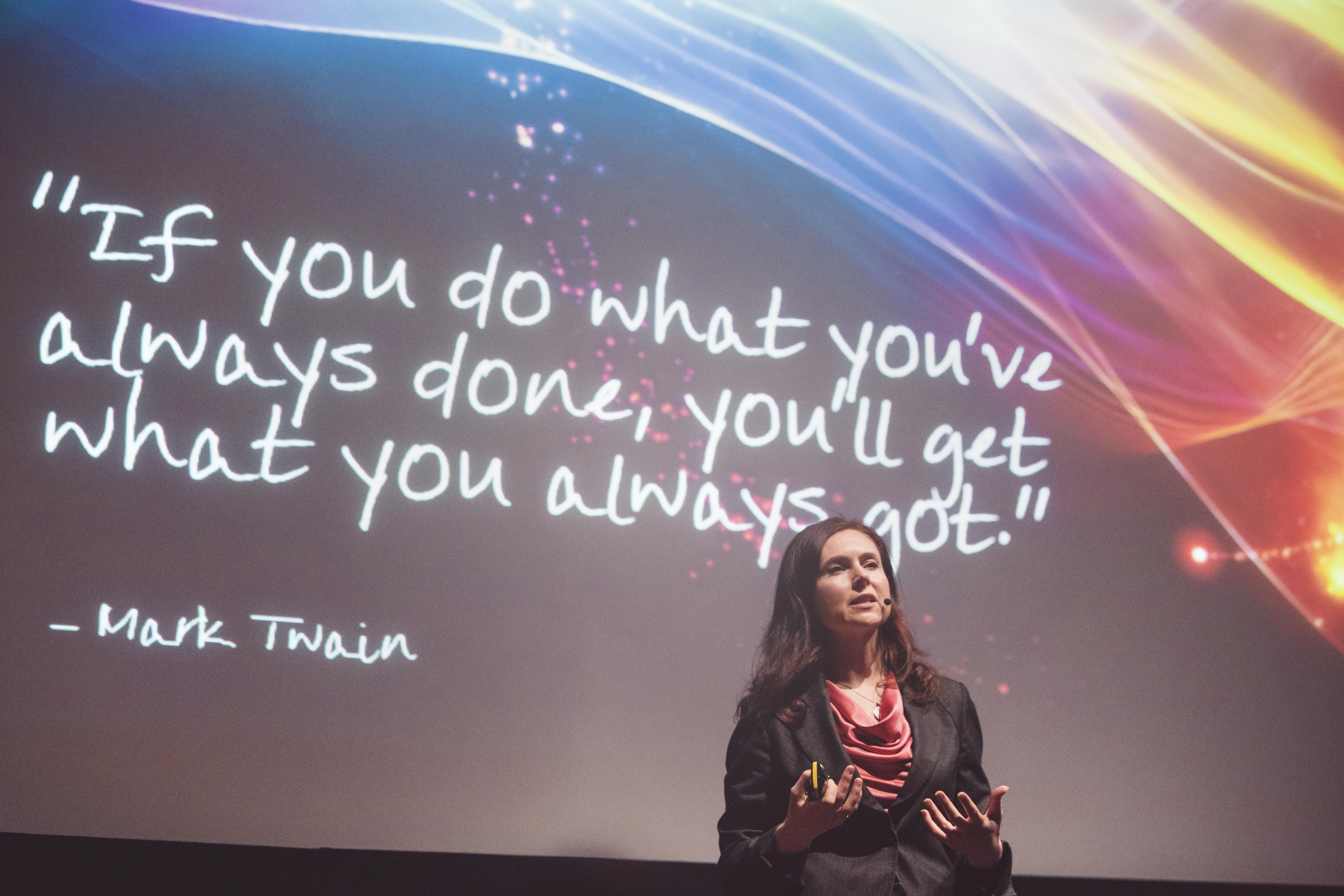 Deanna speaking in London